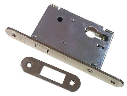 Obrázok pre výrobcu Dverový zámok na posuvné dvere vložkový AGB 702