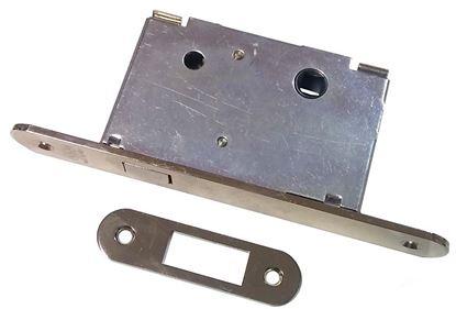Obrázok pre výrobcu Dverový zámok na posuvné dvere WC AGB 703.50. nikel/zlatý