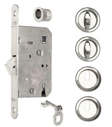 Obrázok pre výrobcu Sada úchytiek na posuvné dvere AGB KIT-B 3938.50.34 matný chróm