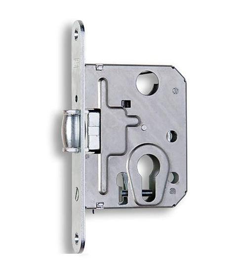 Obrázok Zádlabavací dverový zámok na vložku s valčekom HOBES 2784
