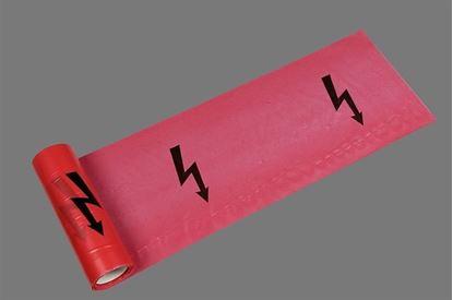 """Obrázok pre výrobcu Den Braven B730BD Výstražná červená páska """"Elektrika"""""""