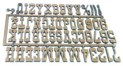 Obrázok pre výrobcu Samolepiaca abeceda zlatá S4
