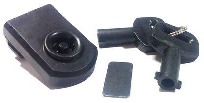 Obrázok pre výrobcu Zámok na sklo SISO 640.81 plast