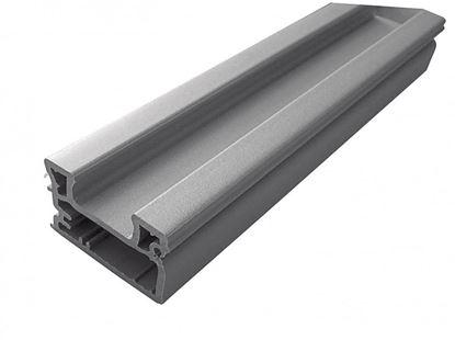 Obrázok pre výrobcu Koncová lišta s integrovanou úchytkou Rehau Al RB04