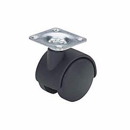 Obrázok pre výrobcu Nábytkové koliesko PH 40 mm s platničkou 2679-1