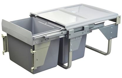 Obrázok pre výrobcu GTV Výsuvný odpadkový kôš 450 / 2x15 nízky šedý