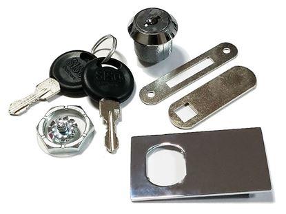 Obrázok pre výrobcu Zámok na sklo SISO 916 X chróm