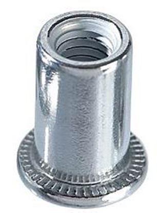 Obrázok pre výrobcu Maticové nity oceľové ploché vrúbkované M8