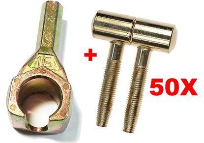 Obrázok pre výrobcu Šróbovací záves AGB 113 16 mm 50 kusov + prípravok na šróbovanie závesov