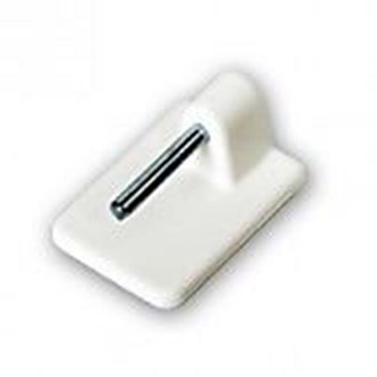 Obrázok Samolepiaci vitrážkový háčik biely 19BIE