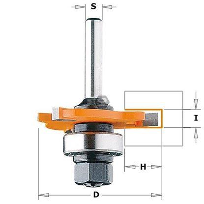 Obrázok pre výrobcu Tanierová drážkovacia fréza s ložiskom C922A/B