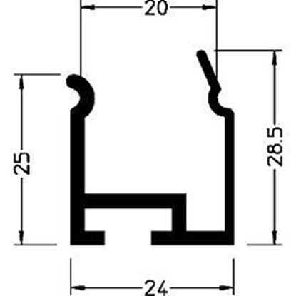Obrázok pre výrobcu Profil na zacvaknutie P3940 WESER klip