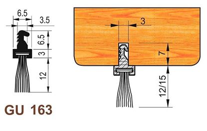 Obrázok pre výrobcu Štetina prahová 15 215 GU163