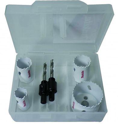Obrázok pre výrobcu Sada vykružovacích koruniek Makita  6 dielna D-33657-10