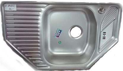 Obrázok pre výrobcu ASIL AS10-LIN nerezový rohový drez 770 x 480 mm + AS107