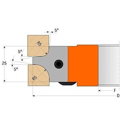 Obrázok pre výrobcu Žiletka CMT69500303 pre C694003 pár žiletiek R=3+6mm