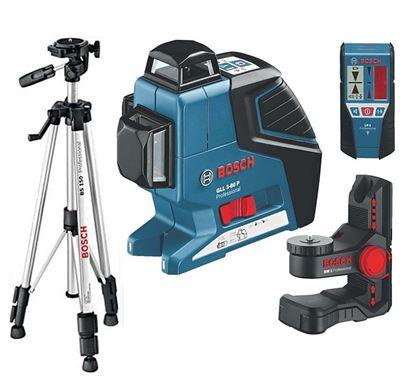 Obrázok pre výrobcu BOSCH Multifunkčný líniový laser GLL 3-80 P Professional+BM1+LR2+BT150