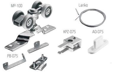 Obrázok pre výrobcu Laguna sada kovania SYNCHRONIK 100 kg na 2 krídlové dvere  1068