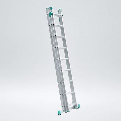 Obrázok pre výrobcu Rebrík EUROSTYL trojdielny s úpravou na schody