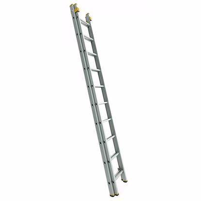 Obrázok pre výrobcu Rebrík FORTE výsuvný dvojdielny, rozšírená verzia 150 kg (2,41 - 10,62 m)