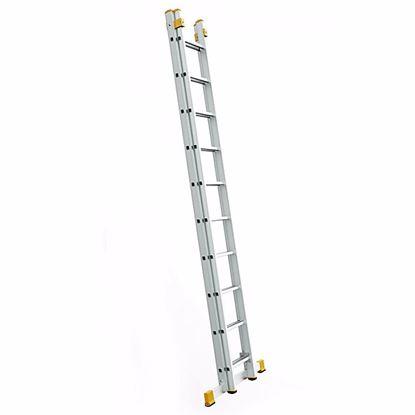 Obrázok pre výrobcu Rebrík FORTE dvojdielny univerzálny 150 kg (2,42 - 8,36 m)