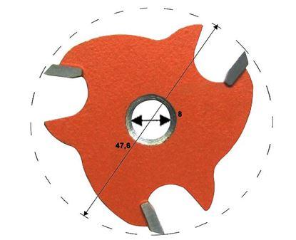 Obrázok pre výrobcu Tanierová fréza bez zahĺbenia C823 CMT