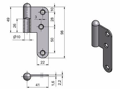 Obrázok pre výrobcu Dverový záves TKZ T5/HD