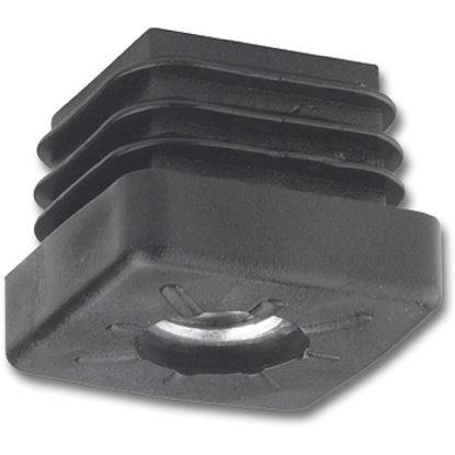 Obrázok pre výrobcu Koncovky pre nohy, pre štvorhranný profil so závitom M10, 40x40mm, čierny plast 103323658