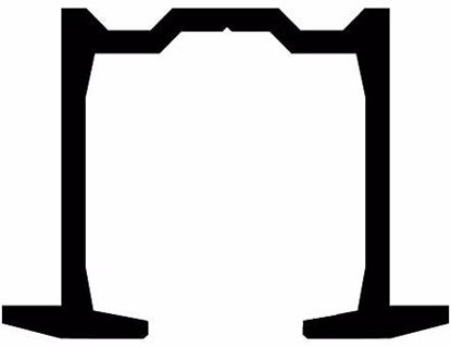 Obrázok pre výrobcu TERNO Vodiaca lišta zapustená 1130/G pre posuvné skladacie dvere