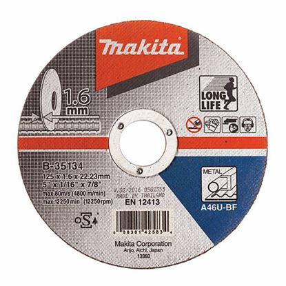 Obrázok pre výrobcu MAKITA B-35134 Rezný kotúč na kov 125 x 1,6