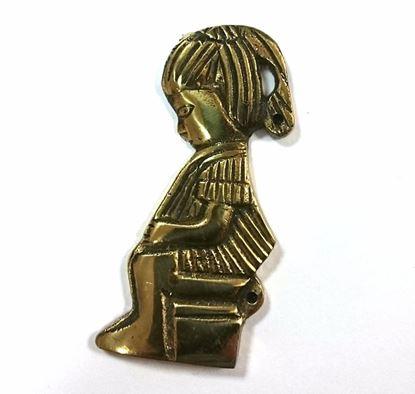 Obrázok pre výrobcu Znak na WC dievča zlaté