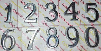 Obrázok pre výrobcu Čísla samolepiace, chróm, 5 cm Dopredaj.
