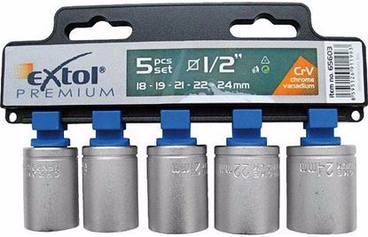 Obrázok pre výrobcu Extol 65603 sada nástrčných kľúčov 5-dielna