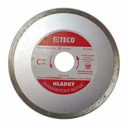 Obrázok pre výrobcu TECO Hladký diamantový kotúč 125 mm 23/47