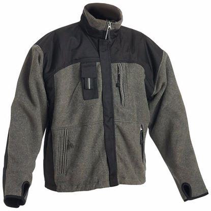 Obrázok pre výrobcu Flisová teplá bunda CASULA šedo čierna Dopredaj!