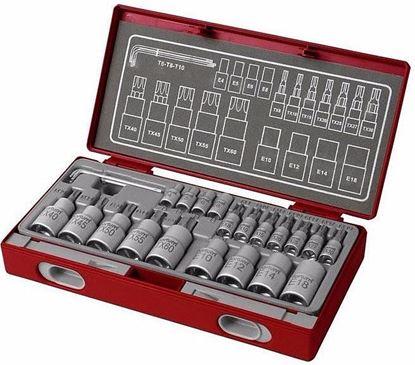 Obrázok pre výrobcu FORTUM Sada nástrčných a zástrčných kľúčov TORX 23-dielna 4700021