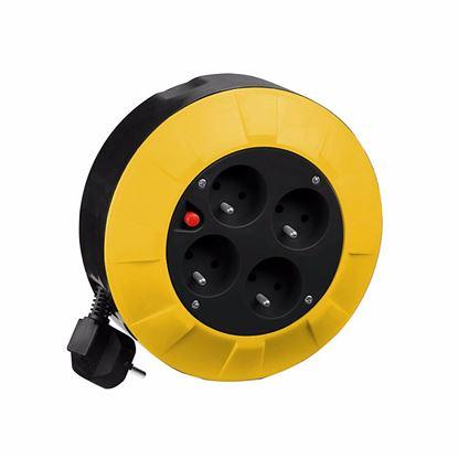 Obrázok pre výrobcu PROTECO KAB004-4 kábel na bubne 4 m, 4 zásuvky