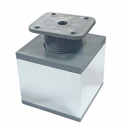 Obrázok pre výrobcu Nábytková noha štvorcová PVC/chróm 60 x 60 x 60 mm DOPREDAJ