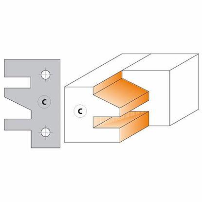 Obrázok pre výrobcu CMT Nôž pre C694014 - pár žiletiek Profil C 40x24,5x2mm