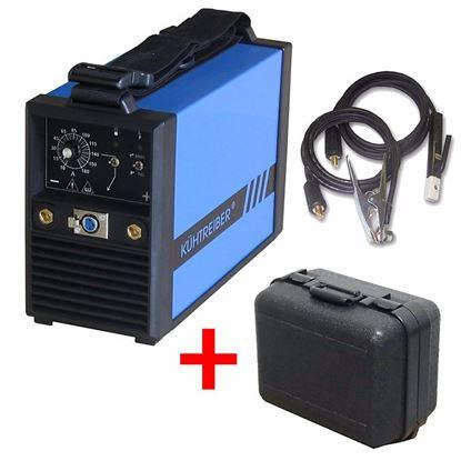Obrázok pre výrobcu Invertorová zváračka MMA/TIG Kühtreiber KITin 165 + káble + kufrík