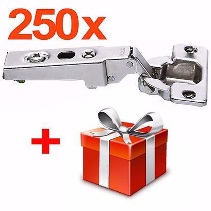 Obrázok pre výrobcu 250x Naložený záves Blum CLIP 100 ° 71M2550 + darček ZADARMO
