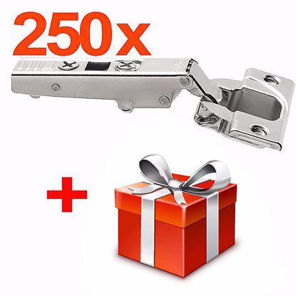 Obrázok pre výrobcu 250x Záves ClipTop Blum 110 ° naložený 71T3550 + darček ZADARMO