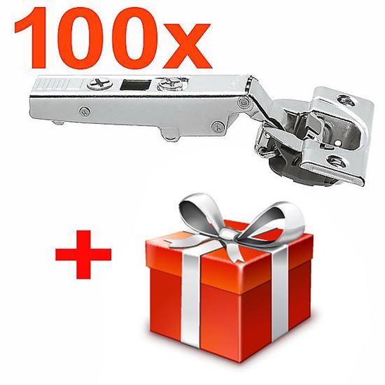 Obrázok 100x Naložený záves Blum CLIP top Blumotion 110 ° 71B3550 + darček ZADARMO