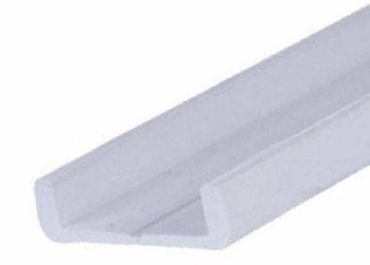Obrázok pre výrobcu Pojazdové profily pre dosky z laminátu sada horný a dolný profil P21 A+B biela 2m