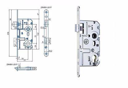 Obrázok pre výrobcu Zámok zadlabací dverový HOBES K-221