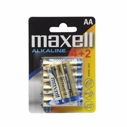 Obrázok pre výrobcu Tužkové alkalické batérie AA MAXELL 1,5 V LR6 4+2 18732