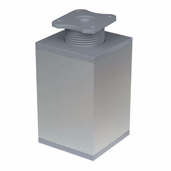 Obrázok Nábytková noha štvorcová PVC/hliník 60 x 60 mm