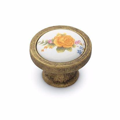 Obrázok pre výrobcu Úchytka DC KF17-G4 knopka porcelán + staré zlato