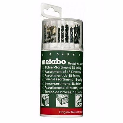 Obrázok pre výrobcu Metabo 627190 sada vrtákov 18-dielna drevo/betón/kov