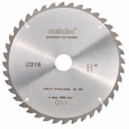 Obrázok pre výrobcu Metabo Pílový kotúč HW/CT 216 x 30 mm , 40 WZ 5, 628060000